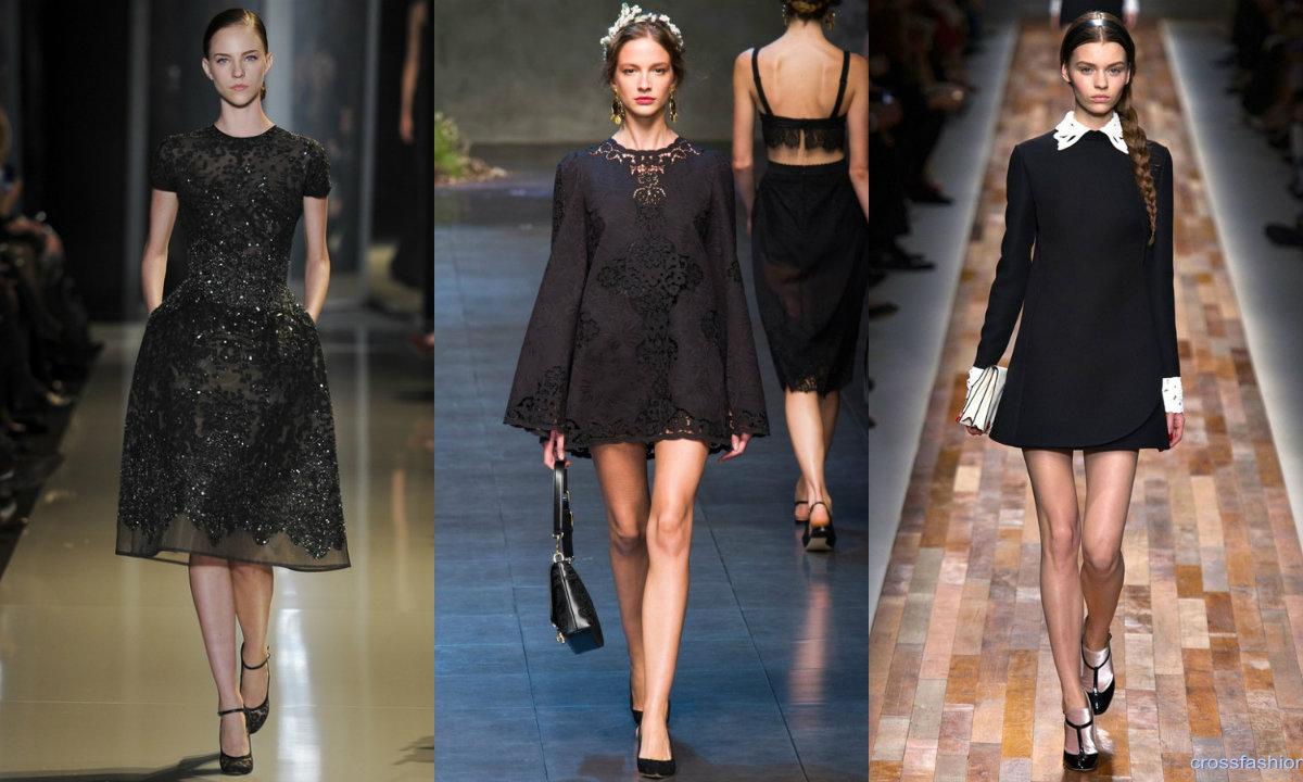 Рука под черным платьем